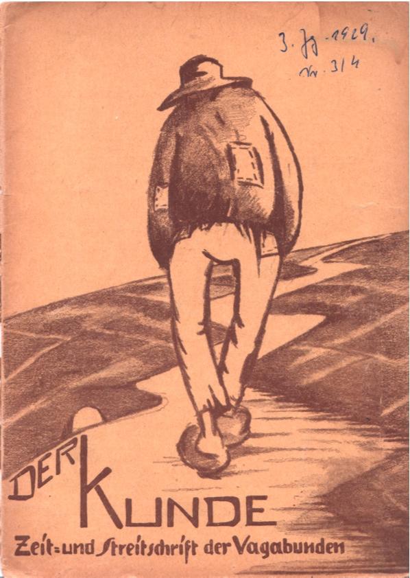 Der Kunde - Zeitschrift der Bruderschaft der Vagabunden - Titelbild Zeichnung Trombrock